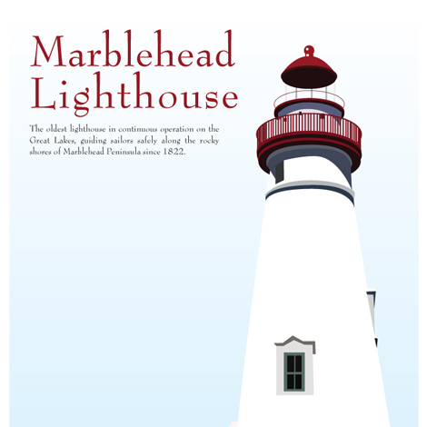 Marble Head Lighthouse Poster